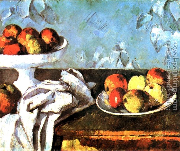 Paul Cezanne : Still life with apples and fruit bowl